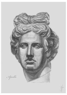 ACADEMIC HEAD PATTERNS   PENCIL ART