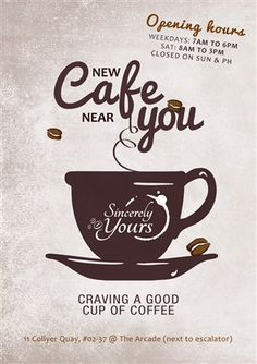 cafe opening flyer - Google Search