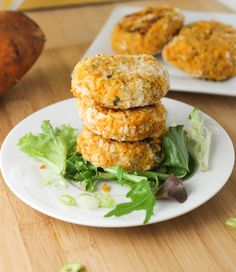 Quinoa and Sweet Potato Cakes. If you skip the Panko and Parmesan ...