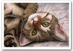 Tabby Kitten Pastel Painting by art-it-art.deviantart.com on @deviantART...Pastels on Pastelboard - DIN A4 - 8x12 inches