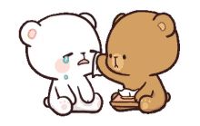 LINE Official Stickers - Milk & Mocha: Unstoppable Lovers Example with GIF Animation Cute Couple Cartoon, Cute Love Cartoons, Chibi Couple, Cute Bear Drawings, Kawaii Drawings, Cute Love Gif, Cute Cat Gif, Cartoon Gifs, Cute Cartoon Wallpapers