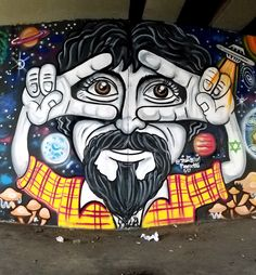 São Paulo, Brasil - Amazing Street Art & Graffiti from the Avenida Paulista tunnel (braving oncoming traffic for the shots) near El Centro. Art is everywhere and hides in the most unexpected places. Original photography from R. Stowe.