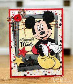"Brigit's Scraps ""Where Scraps Become Treasures"": Remember The Magic, Trendy Twine Celebration! Disney Cards, Disney Diy, Disney Trips, Baby Food Jar Crafts, Baby Food Jars, Magic Design, Board For Kids, Cricut Cards, Disney Scrapbook"