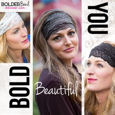Bolder Band Headbands stay put so you won't have to -- guaranteed!