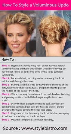 How To Style a Voluminous Updo