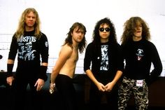 Metallica old with Jason Newsted Picture from Metallica. One By Metallica, Metallica Band, Great Bands, Cool Bands, Jason Newsted Metallica, Best Heavy Metal Bands, 25 Years Ago Today, Robert Trujillo, Kirk Hammett