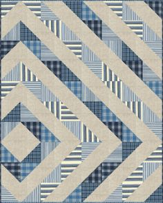 Easy Square Quilt Patterns | Quilts I Love - TWO / Easy half square triangle quilt pattern