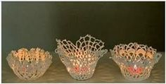 00010These Would Be Perfect For Wedding Decorations. Add elegance to any setting with these crochet doilies-turned-candle-holders.  Take small crochet doilies and form them around an object of the desired shape to create unique holders for tea lights or battery-operated tea lights.  Use caution when using actual burning candles. The pictures below show using plaster of …