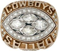 1993 Dallas Cowboys Super Bowl XXVIII Championship Ring Presented to Tight Ends Coach Robert Ford