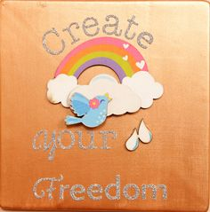 Create Your Freedom Plaque by CrystalandLeaf on Etsy