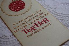 Handmade Vintage Style Teacher Bookmark  Thank You by wkburden, $3.00