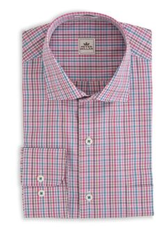 In the season's most wearable patterns, our End-on-End Tattersall long-sleeve sport shirt is crafted in 100% cotton and finished with our signature colorful button threads. - Men's 100% cotton sport s