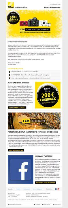 Neues #Newsletter-#Template für den mailingwork-Kunde #Nikon.  #Newsletterdesign #Email #Emailmarketing