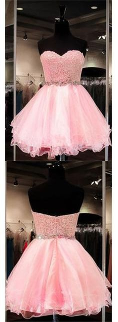 Blush Pink Homecoming Dress,Homecoming Dresses,Lace Homecoming Gowns,Short Prom Gown,Blush Pink Sweet 16 Dress