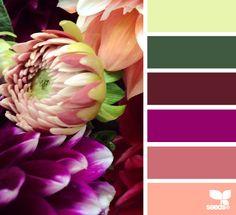 flora palette - voor meer kleur inspiratie en gratis woonbrochures kijk ook eens op http://www.woonbrochuresonline.nl/