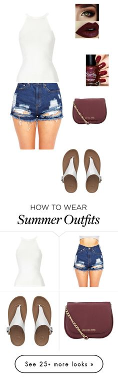 """1st Summer Outfit For Women."" by leara29 on Polyvore featuring FitFlop and MICHAEL Michael Kors"