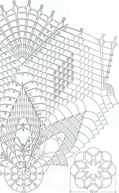 Photo from album Crochet Doily Diagram, Filet Crochet Charts, Crochet Doily Patterns, Crochet Mandala, Crochet Motif, Crochet Designs, Crochet Doilies, Knit Crochet, Crochet Stars