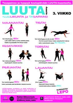 3. viikko juliste Tila, Wellness, Sports, Hs Sports, Excercise, Sport, Exercise