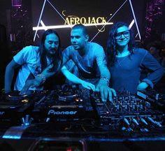 Steve Aoki, Afrojack, and Skrillex.