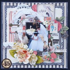A BEAUTIFUL layout by Arlene using couture! Love her layering! #graphic45 #scrapbooking #layouts