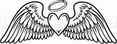 28 Hearts with Wings Tattoos reagan power collection heart coloring pages printable tattoo artist yoyo ventura yelp gothic heart tattoos santorini heights updated 2019 pric. Cross With Wings Tattoo, Halo Tattoo, Tattoo Mom, Pencil Drawings, Art Drawings, Angel Wings Drawing, Engel Tattoos, Los Mejores Tattoos, Person Drawing