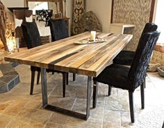Esstische Der Tischonkel Esstisch Tischplatte Aus Recyceltem Holz Esstische Holz