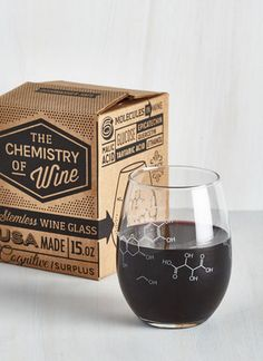 A Pour-ganic Chemistry wine glass for celebrating Friday properly.