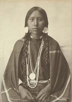 Cherokee woman- she appears to have my mother's profile. Because ...