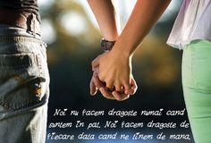 Poza cu mesaj de dragoste maini