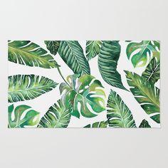 Jungle Leaves, Banana, Monstera Bath Mat by wheimay Floral Rug, Floral Design, Pool Wedding Decorations, Temporary Wallpaper, Design Repeats, Smooth Walls, Tropical Decor, Textured Walls, Beautiful Artwork