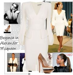 """Beyonce and McQueen"" by yoa316 ❤ liked on Polyvore"