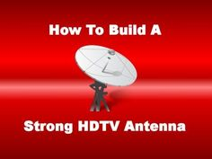 ▶ How To Build A Strong HDTV Antenna - by your7sins YouTube Easy to follow, step-by-step instructions on how to build a high definition antenna. This will let you receive the best quality picture in 720p/1080i/1080p available on all of your local channels, 100% FREE. Uses coiled 14 g copper wire and a Balun (RCA Indoor Matching Transformer).