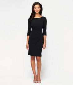 Alex Evenings Side-Ruched Jersey Dress