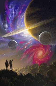 Creation (sketch) by AlanGutierrezArt on DeviantArt Space Illustration, Illustrations, Fantasy World, Fantasy Art, Galaxy Wonder, Alien Life Forms, Where Is The Love, Native American Artwork, Dreams And Nightmares