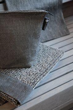Linen grey in sauna, pellavanharmaata saunassa. www.pisadesign.fi