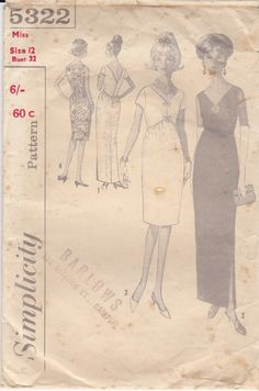 Hey, I found this really awesome Etsy listing at https://www.etsy.com/au/listing/158553790/1960s-sewing-pattern-simplicity-5322
