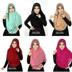 Hijab Jilbab Kerudung Pashmina Instant Athalia Diamond