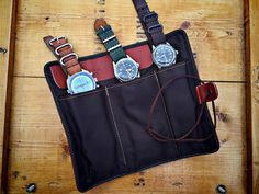 watch travel pouch by vintagestrong on Etsy