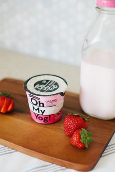 modern packaging and design // love the gradient stripes and bold typography #yogurt #marketing