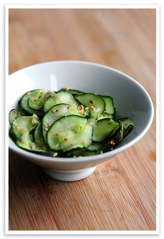 Wasabi Cucumber Sesame Salad - i.e. what someone will be making for dinner tonight.