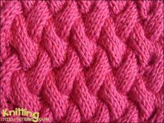 Basket Cable   |  knittingstitchpatterns.com