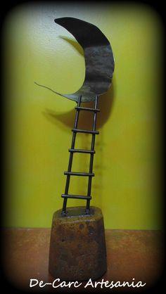 """Titulo """" Camino """" Escultura en Hierro 40cm"""