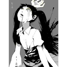 blood monochrome monoko tears yume nikki ❤ liked on Polyvore featuring anime, yume nikki and backgrounds