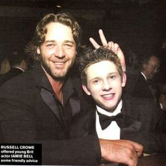 Russell Crowe and Jamie Bell 2001
