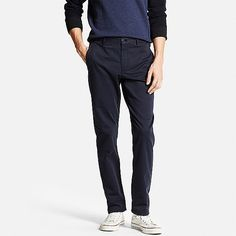 Slim Fit Chino Flat Front Navy - Uniqlo