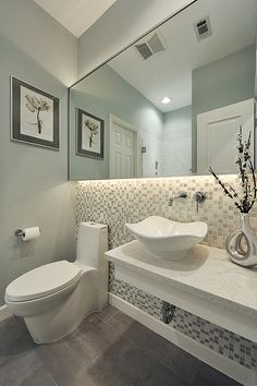 Elegant Contemporary #Bathroom #bathroomdesign http://www.cleanerscambridge.com/