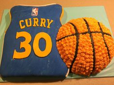 S. Curry basketball cake for a seven year old boy