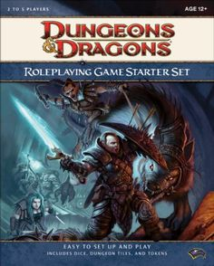 Dungeons & Dragons Roleplaying Game Starter Set (D&D Introductory Game) by Wizards RPG Team http://www.amazon.com/dp/0786948205/ref=cm_sw_r_pi_dp_v9LStb1EVPEVQ6EG