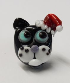 Cat in a Christmas hat - Emma Green - Etsy <3<3<3 @
