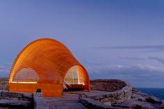 nicole larkin sites luminous landmark near sydney's bondi beach
